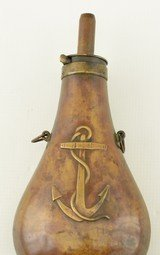 Unusual USN Powder Flask by Stimpson - 1 of 14