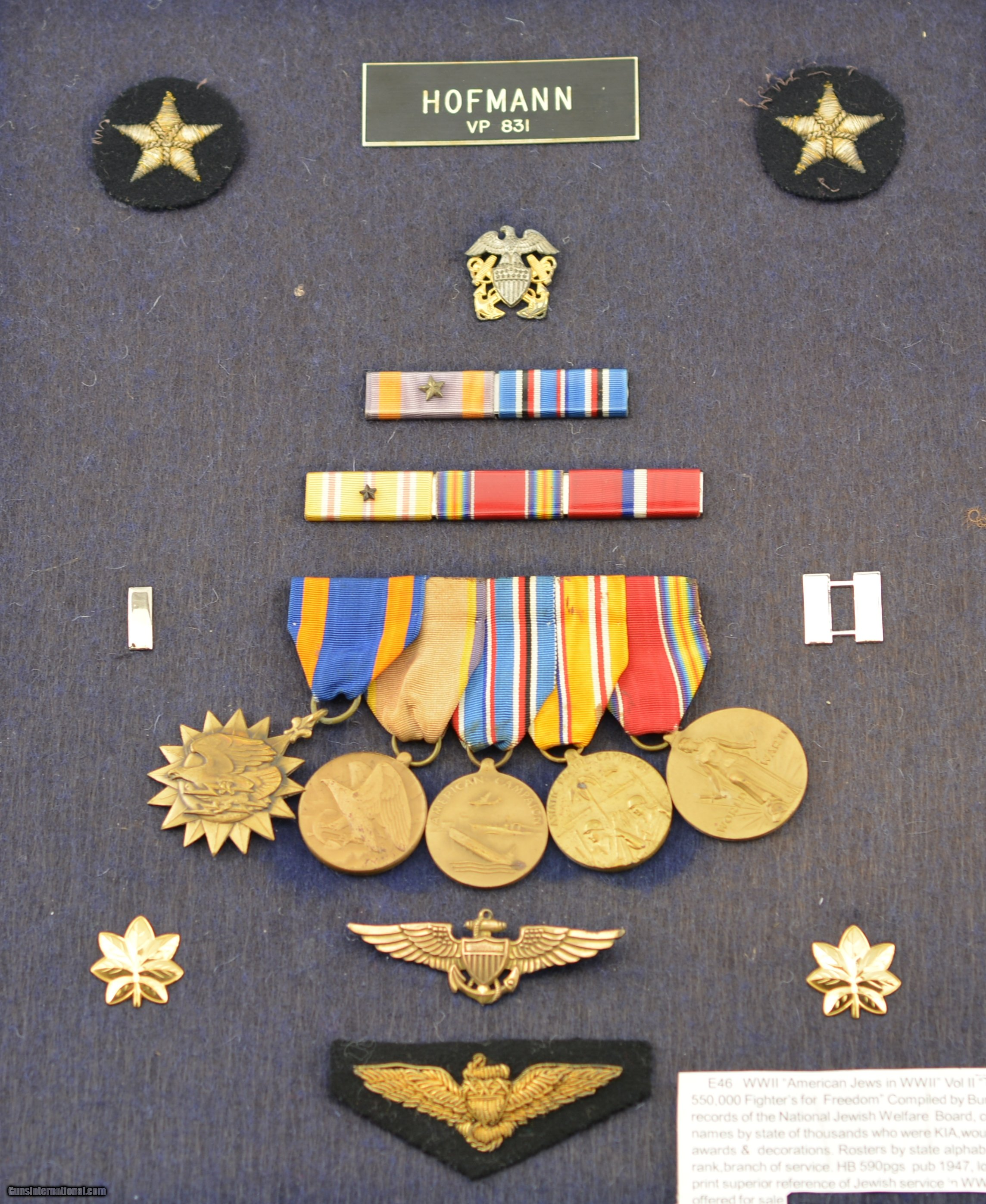 WW2 Jewish Naval Aviator Insignia and Medals Group for sale
