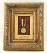 WW2 German Olympic Decoration in Frame - 1 of 8
