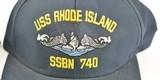 USS Rhode Island SSBN-730 & SSBN-740 Two Original Hats - 3 of 7