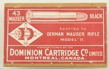 Dominion Cartridge Co Sealed Factory Reference Box 1928 - 1 of 6