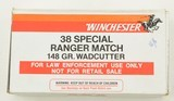RCMP Marked Winchester 38 SPL Range Match Ammo