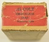 Winchester Ammo 45LC for Colt New Service Rare Box - 5 of 6