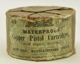 Eley Bros 380 Pistol cartridges Rare Round Tin