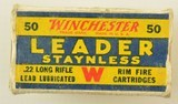 Winchester 22 LR Leader Staynless 1938 Issue Ammo - 1 of 7