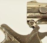 Engraved Belgian Copy of a Remington-Elliot O/U Derringer - 10 of 11