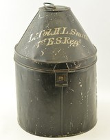 British Metal Hat Box Belonging to Lt. Col. H.L. Smith (DSO) - 1 of 7