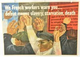 Original Ben Shahn Poster French Workers WWII Propaganda - 1 of 14