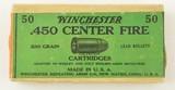 Sealed Winchester 450 Webley Revolver Cartridge Box