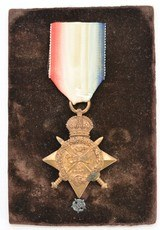 WW1 1914 Mons Star Awarded to Lt. L.A. Bernard (Posthumous)