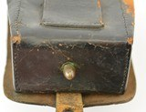 Leather Pistol or Cap Box with U.S. Plate - 8 of 9