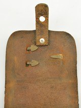 Leather Pistol or Cap Box with U.S. Plate - 4 of 9