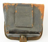 Leather Pistol or Cap Box with U.S. Plate - 9 of 9