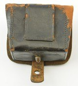 Leather Pistol or Cap Box with U.S. Plate - 3 of 9