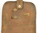 Leather Pistol or Cap Box with U.S. Plate - 5 of 9