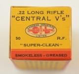 CIL Central V's 22 LR 1937 Second Variation Box - 4 of 7