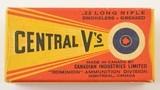 CIL Central V's 22 LR 1937 Second Variation Box