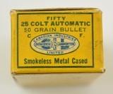 C-I-L Dominion 25 Colt Automatic Ammunition Mint Full Box 1949 - 4 of 5