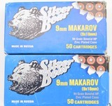 Silver Bear 9MM Makarov Hollow Point 100 Rnds