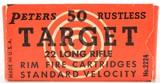 peters target ammo rustless 22 lr