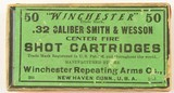 Very Scarce Sealed Box Winchester 32 S&W Shot Ammunition 1912