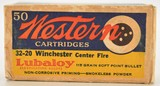 Early Western 32-20 Full Box Ammunition Bullseye Graphic