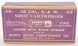 Robin Hood 38 S&W Shot Cartridges Sealed Box Excellent Ammo