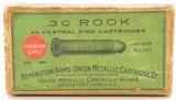 Scarce Sealed Box of .30 Rook Remington UMC Ammunition