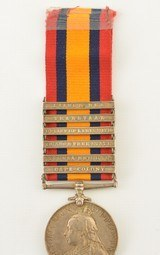 Boer War South Africa Medal and Clasps of Pvt. W. Cooke, KRRC - 2 of 7
