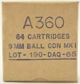 Canadian Dominion 9MM Nato Ammunition 64 Round Box - 1 of 3
