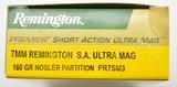 Remington 7 MM, SA, Ultra Mag 160 Nosler Cartridge 20 rounds - 2 of 3