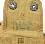 WWI Model 1914 Mounted Cartridge Belt With M1911 Pistol Pouch - 6 of 8
