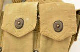 WWI Model 1914 Mounted Cartridge Belt With M1911 Pistol Pouch - 8 of 8