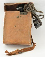 WW2 U.S. Army Field Telephone Leather case