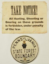 Vintage Pennsylvania Property Posting Signs - 1 of 5