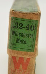 """2 Piece Winchester 32-40 Green Label Box """"7-9""""Date Code - 5 of 7"""
