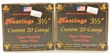 "Scarce Hastings 3 ½"" 20 Gauge Super Magnum Sabot Slugs Ammo"