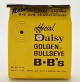 Scarce Unopened 1960's Official Daisy Heddon Golden Bullseye BB Box