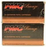 PMC Bronze 9mm Ammunition 115 Grain FMJ 100 Rounds