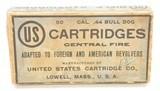 Rare Full Box 44 Bull Dog US Cartridge Lowell, Mass Ammo - 1 of 7