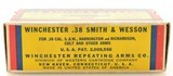 """Excellent Winchester 38 S&W """"1939"""" Box Ammo Full 145 Gr Nickel Plated - 3 of 7"""