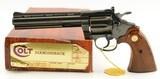 """Colt .22 Diamondback Revolver 6"""" w/ Original Box and Paper"""