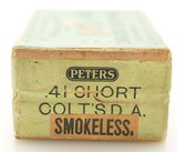 Rare Transition Sealed BP Box Peters 41 Short Colt W/ Smokeless Label - 3 of 6