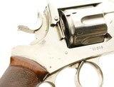 Early Webley WG Army Model 1896 Revolver Nickel - 5 of 15