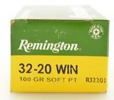 Full Box Remington 32-20 Win Ammo 100 GR Soft Point High Velocity - 2 of 4