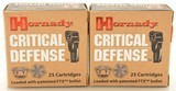Hornady Critical Defense 9mm Luger 115 GR FTX 50 Rounds Ammo - 1 of 3