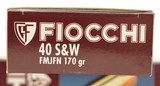 Fiocchi 40 S&W Ammo 170 Grain FMJFN Bullets 100 Rds. - 2 of 3