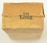 US Cartridge Co. 38 Long Rim Fire .38 RF Box Woodcut Label Ammo - 3 of 5
