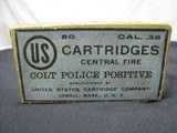 US Cartridges Cal 38 Colt Police Positive Black Powder Sealed Box 50ct