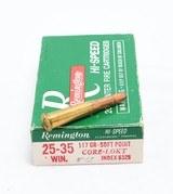 Remington 117 gr. soft point Core-Lokt .25-35